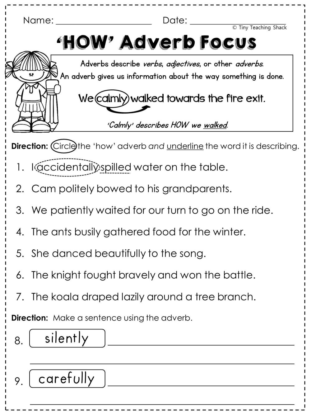 medium resolution of 8 Best 4th Grade English Worksheets Adjectives images on Best Worksheets  Collection