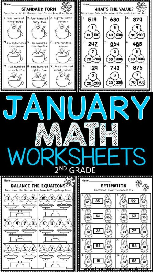small resolution of January Math Worksheets   Resources For Teachers All Grades  Prek on Best  Worksheets Collection 4195