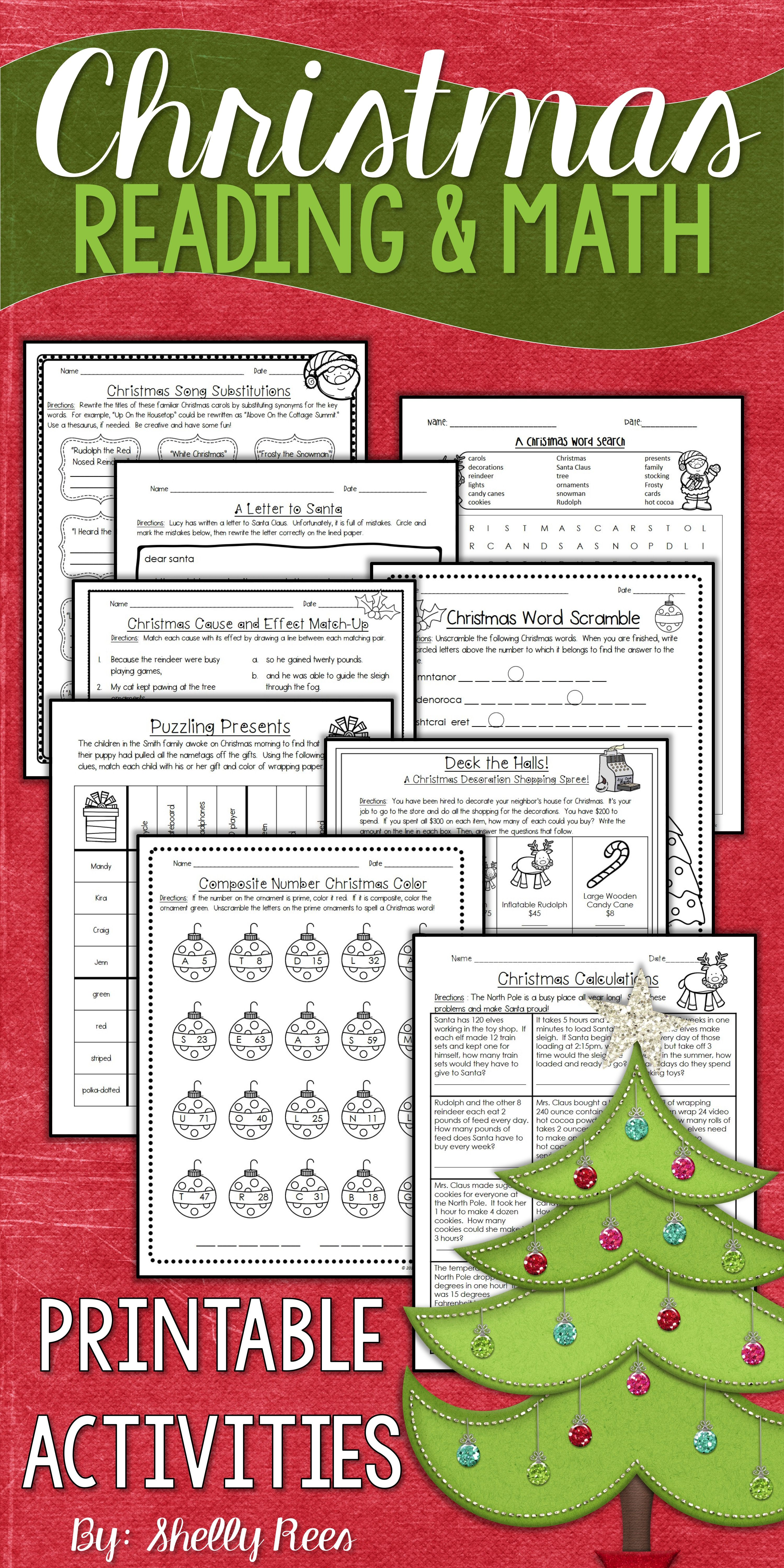 13 Best Christmas Math Coloring Worksheets 4th Grade