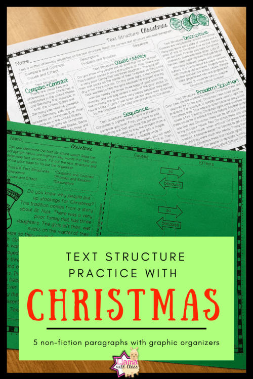 small resolution of Christmas Text Structure Worksheets   Upper Elementary Lesson Ideas on Best  Worksheets Collection 3374