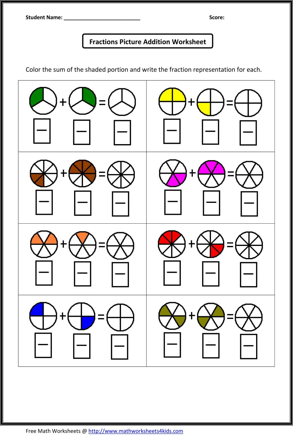 medium resolution of 13 Best Adding Fractions Worksheets images on Best Worksheets Collection