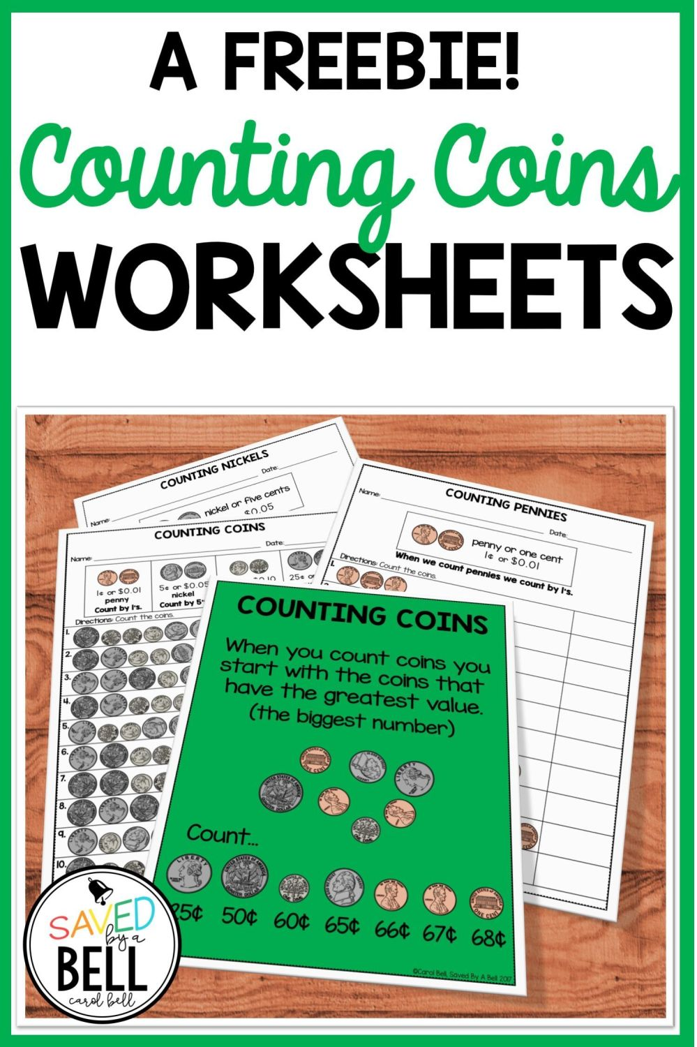medium resolution of Free Counting Coins Worksheets   Saved By A Bell Teaching Resources on Best  Worksheets Collection 1945
