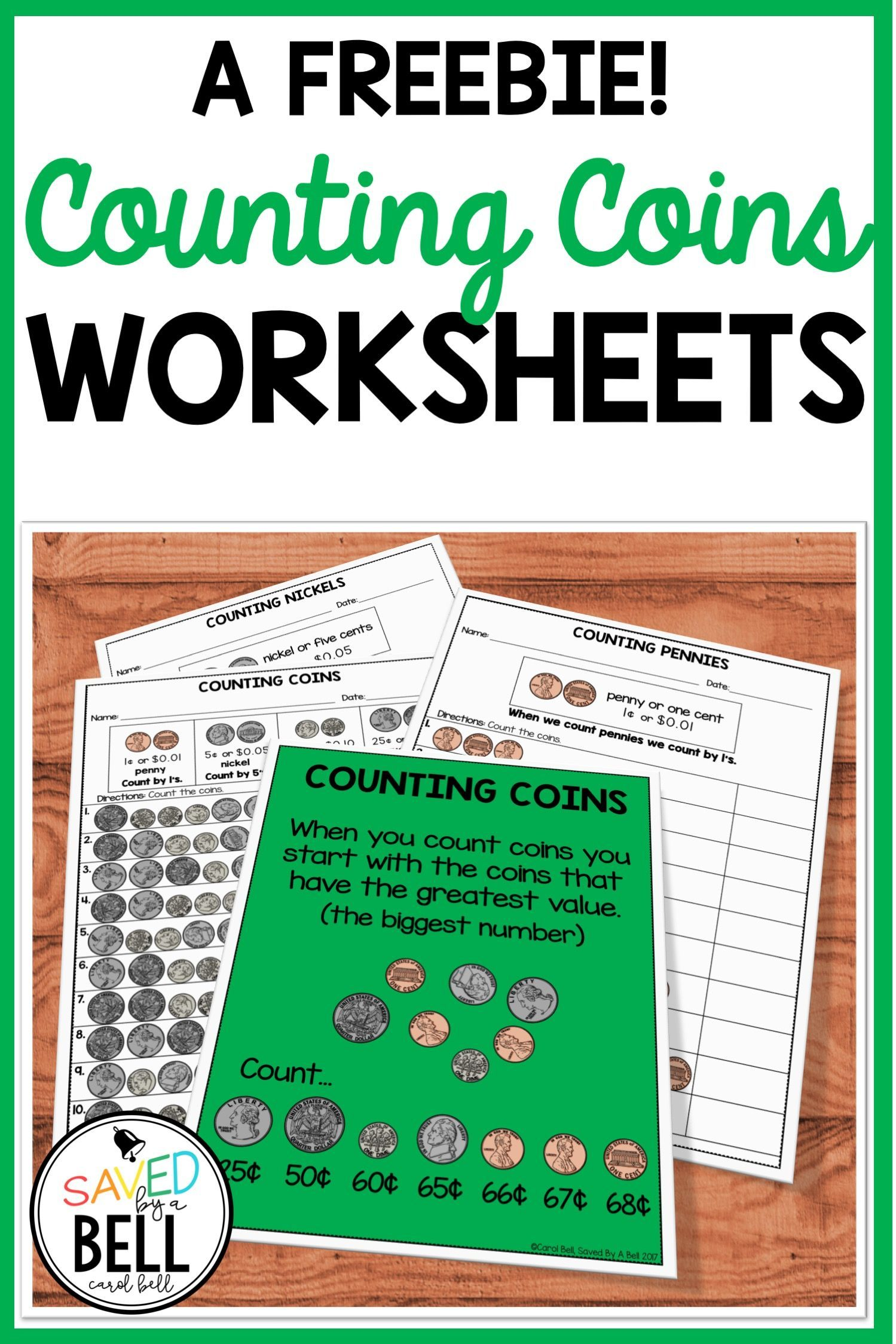 hight resolution of Free Counting Coins Worksheets   Saved By A Bell Teaching Resources on Best  Worksheets Collection 1945