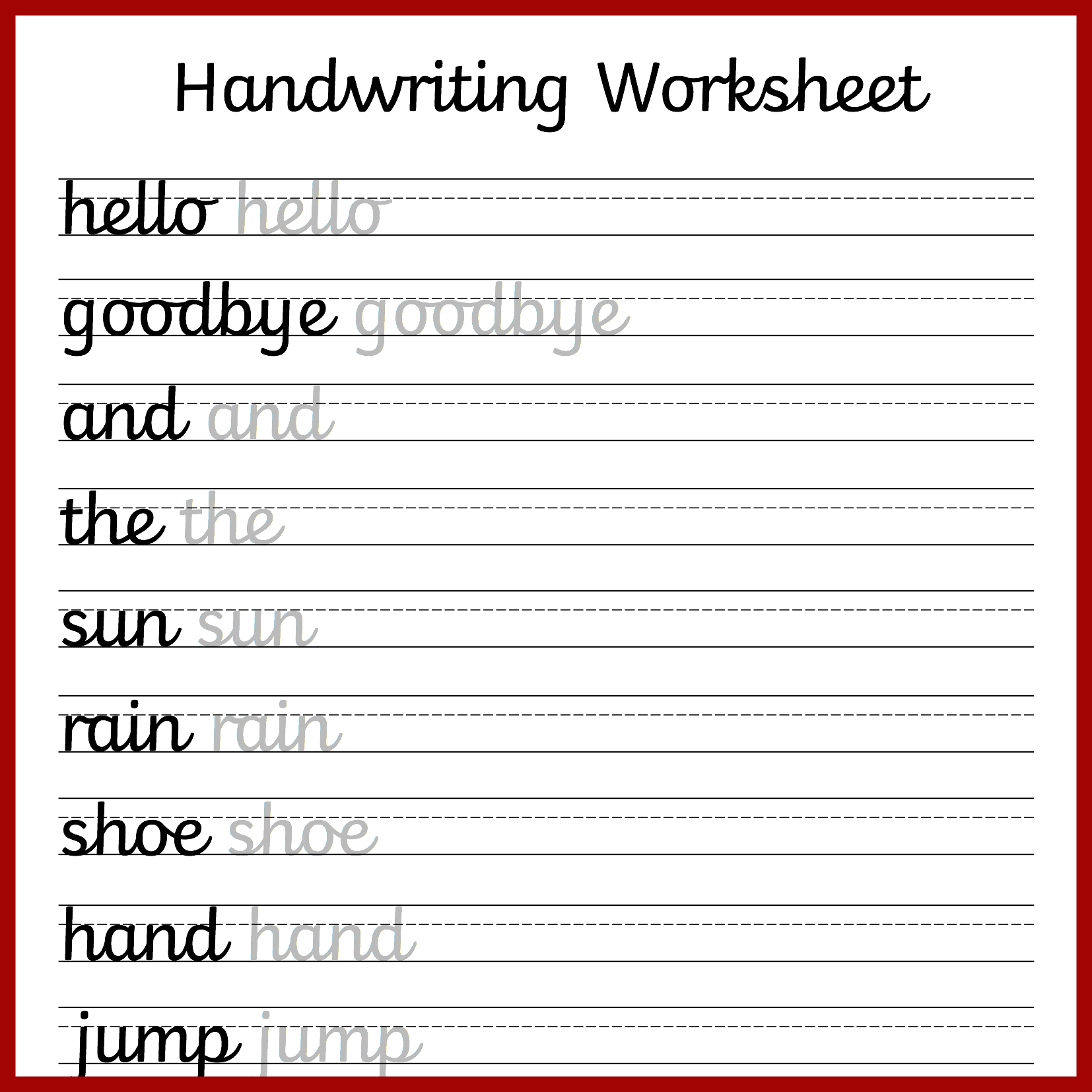 14 Best Lowercase Cursive Writing Worksheets Images On