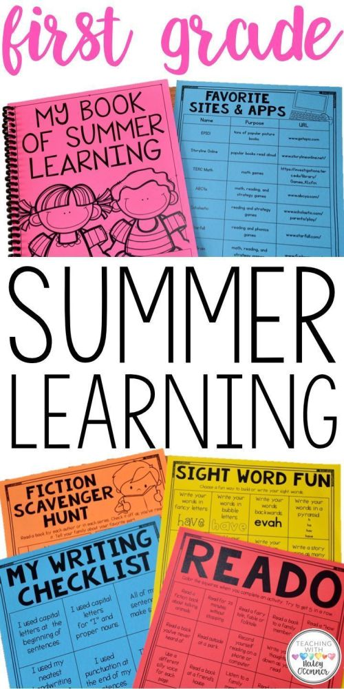 small resolution of Summer Packet For 1st Graders {worksheets
