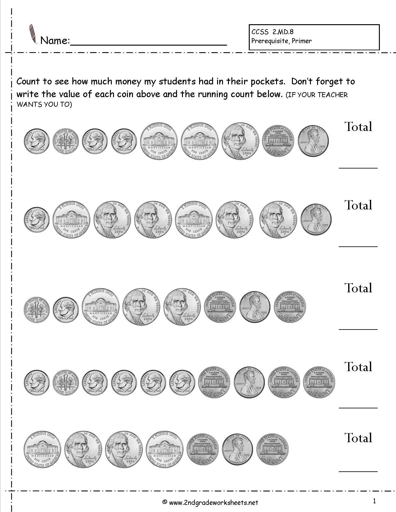17 Best Pennies Worksheets Images On Best Worksheets