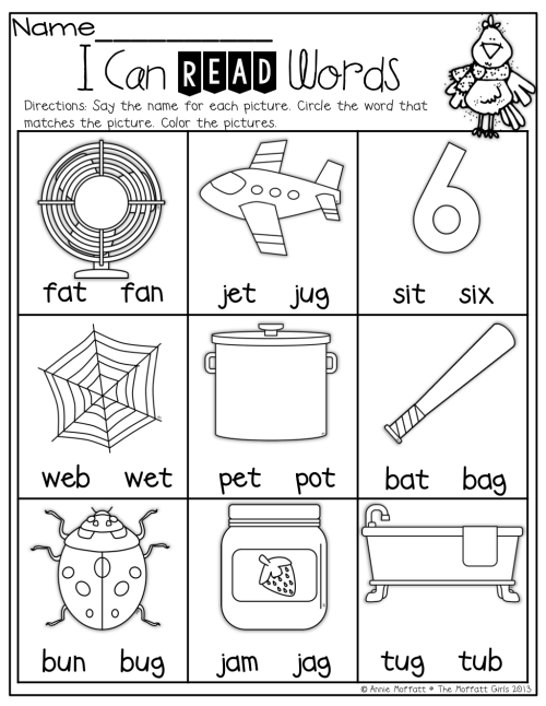 small resolution of 5 Best Cvc Worksheets For Kindergarten images on Best Worksheets Collection