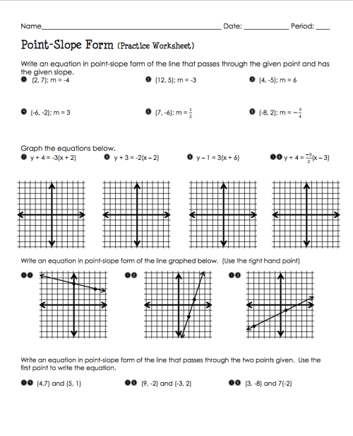 small resolution of Slope Intercept Worksheets 8th Grade When Finsihed With Joke   Math on Best  Worksheets Collection 3721