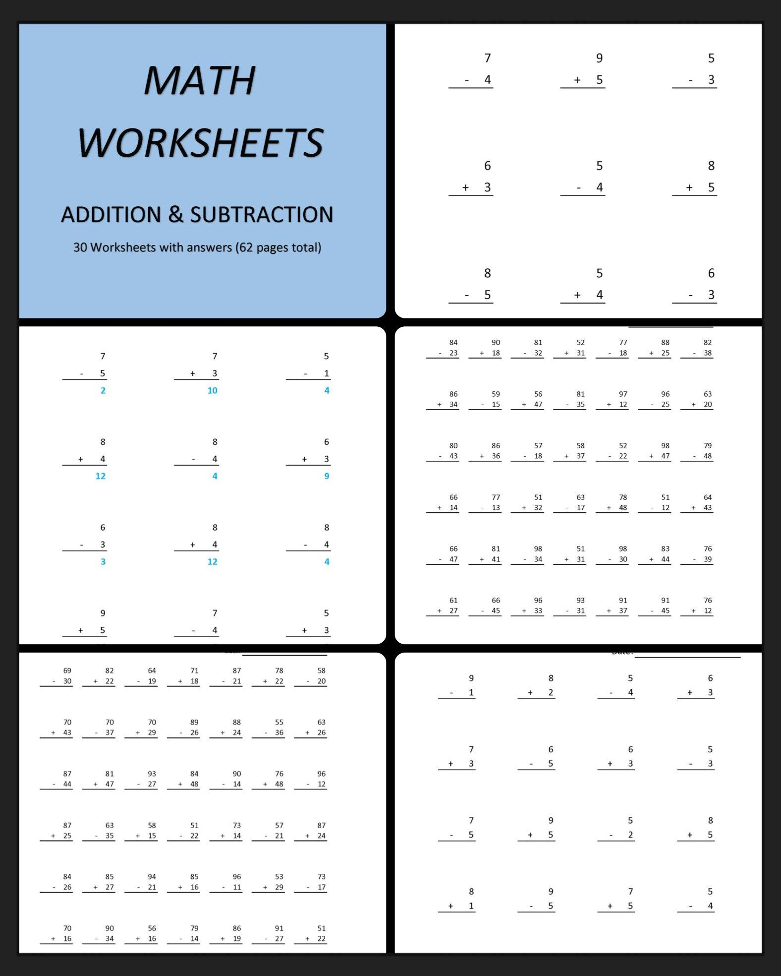 12 Best 3 Digit Addition And Subtraction Worksheets Images