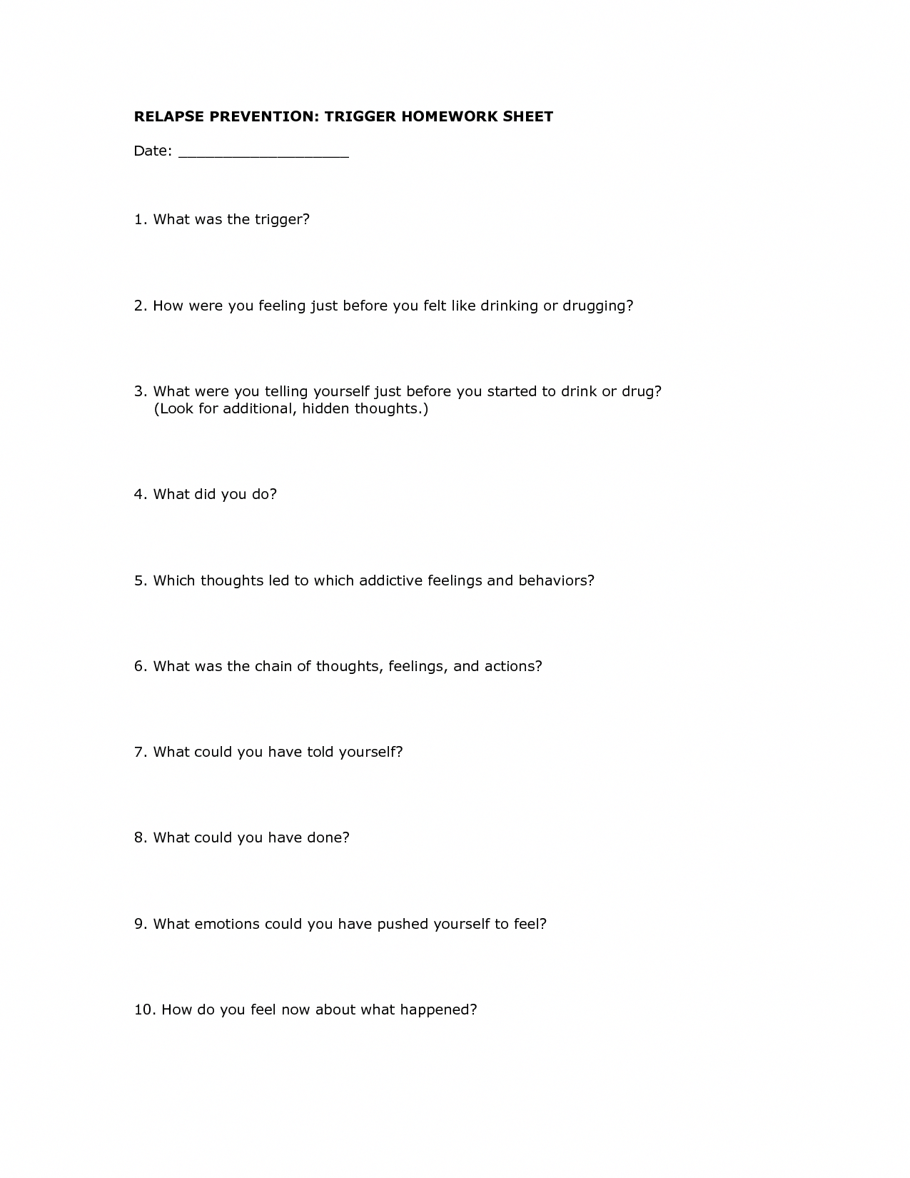 7 Best Family And Addiction Worksheets Images On Best