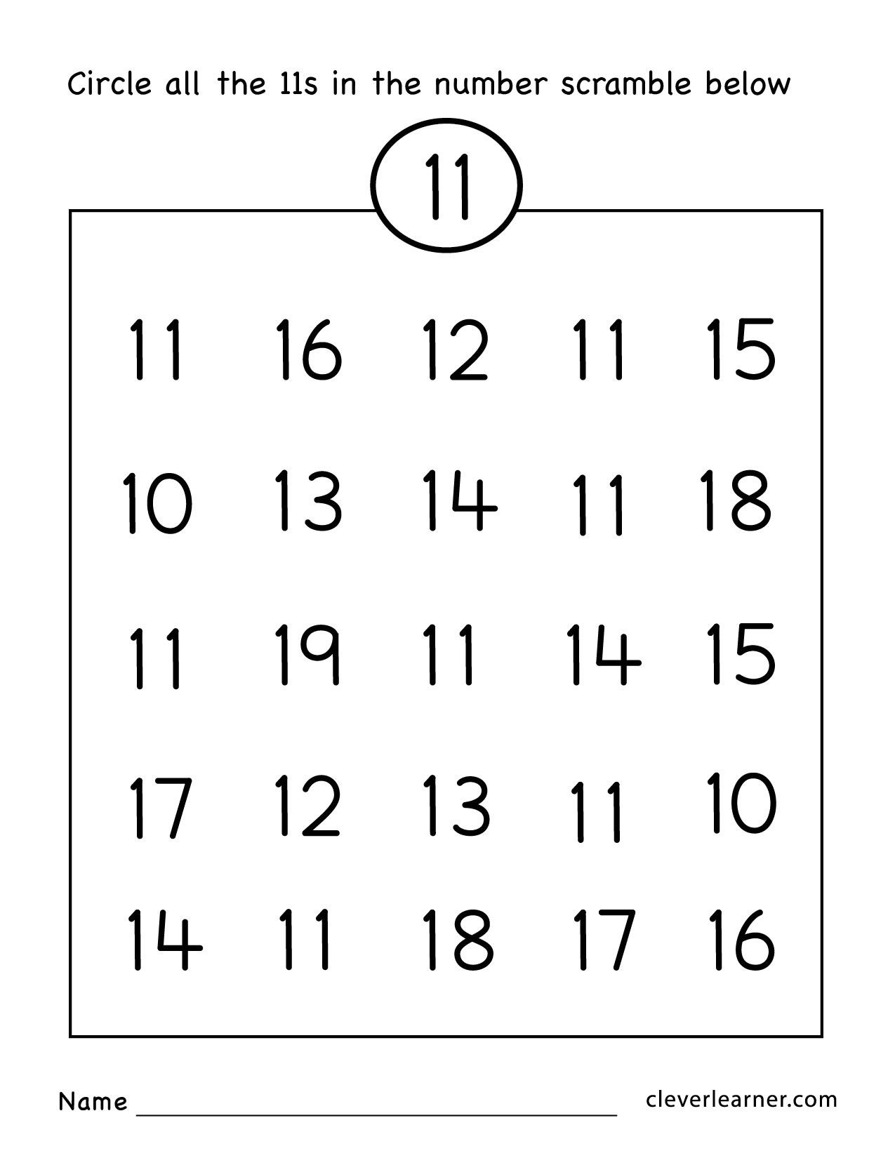 14 Best Counting Numbers 11 20 Worksheets images on Best