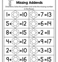 Free Spring Math Worksheets For Kindergarten (no Prep   Summer on Best  Worksheets Collection 6390 [ 3002 x 2320 Pixel ]