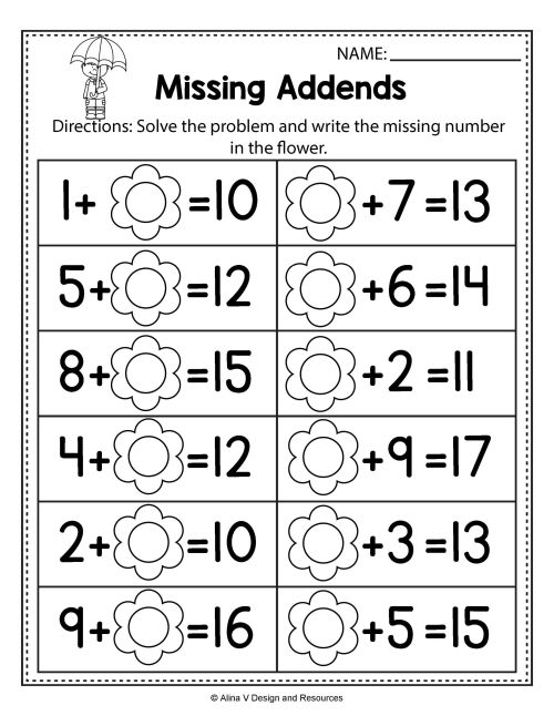 small resolution of Free Spring Math Worksheets For Kindergarten (no Prep   Summer on Best  Worksheets Collection 6390