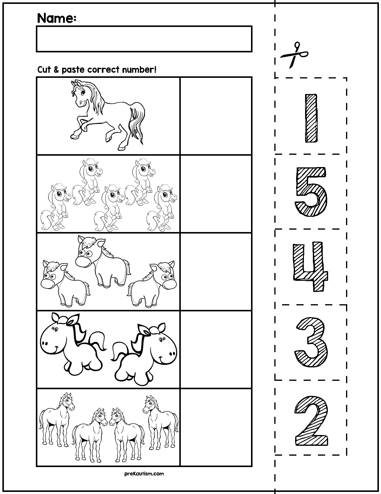 11 Best Cut And Paste Matching Worksheets Images On Best