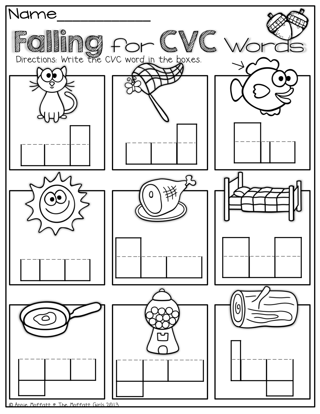 hight resolution of Cvc Word Work!   English Worksheets   Cvc Worksheets