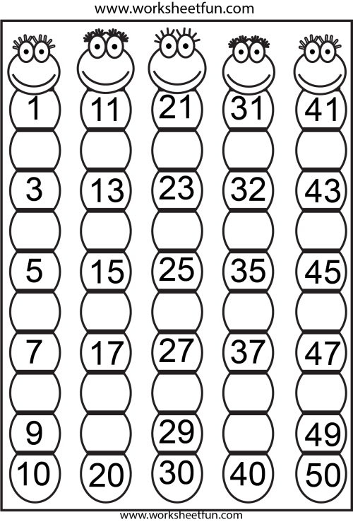 small resolution of Missing Numbers 1-50 – 4 Worksheets / Worksheets   2nd Grade on Best  Worksheets Collection 707