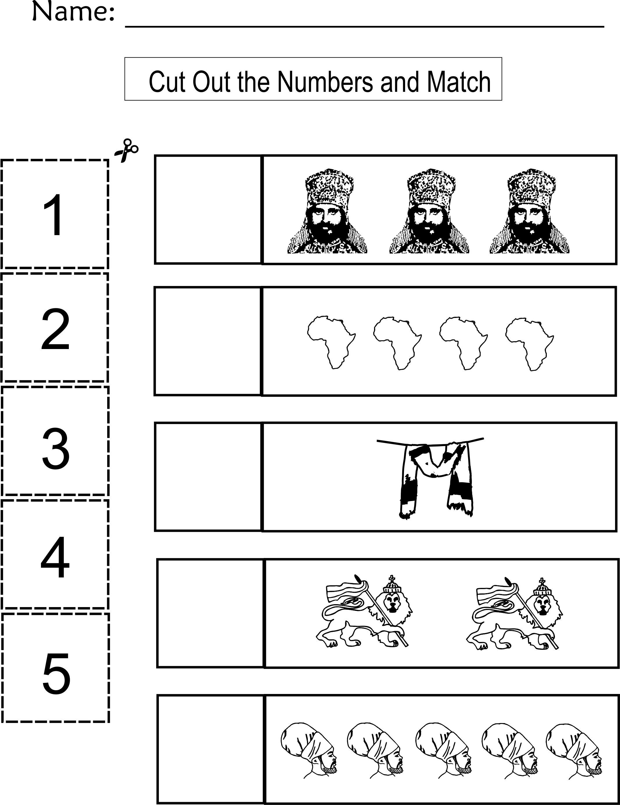 7 Best Cut And Paste Worksheets Counting 1 10 Images On