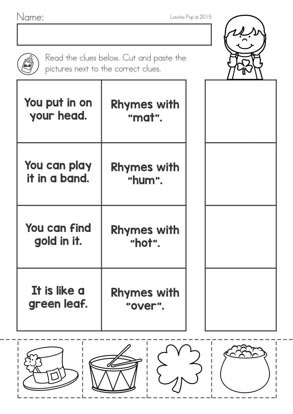 medium resolution of St Patrick's Day Math \u0026 Literacy Worksheets \u0026 Activities No Prep on Best  Worksheets Collection 7848