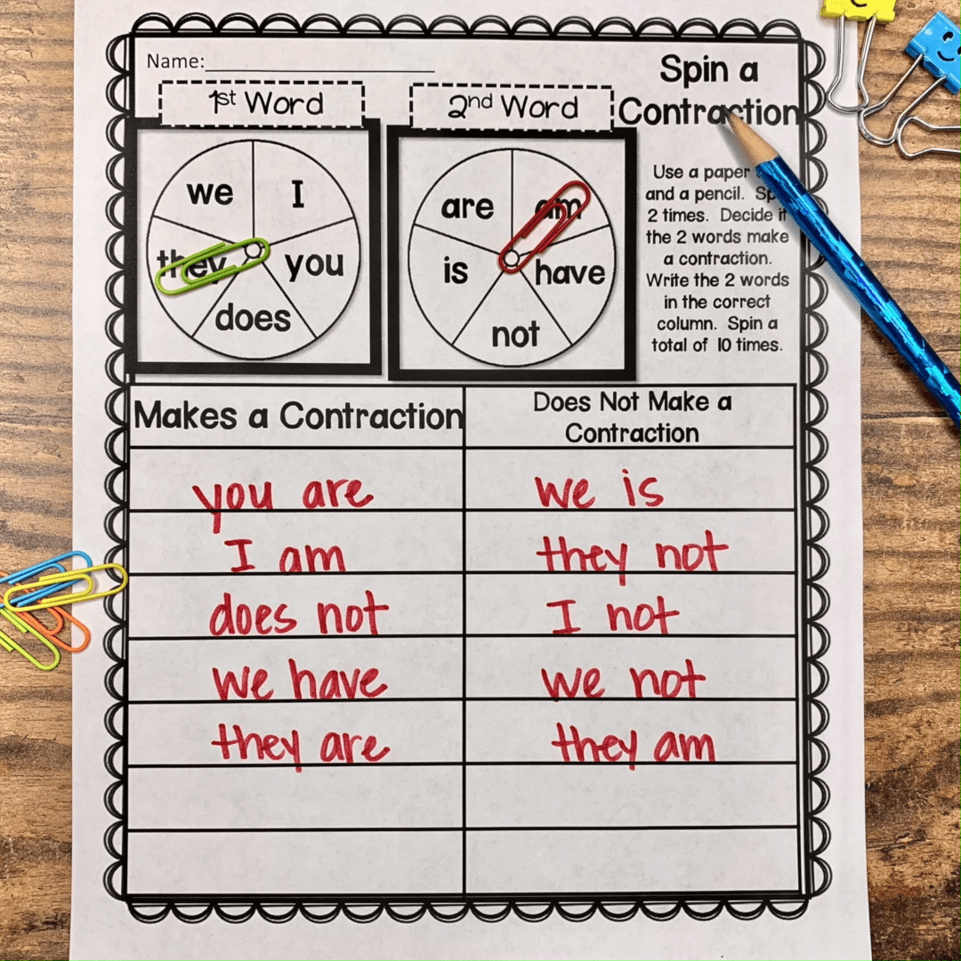 Worksheets For Compound Words