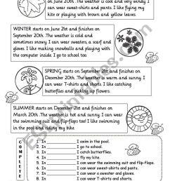 Seasons Worksheet   2nd Grade   Seasons Worksheets [ 1169 x 821 Pixel ]