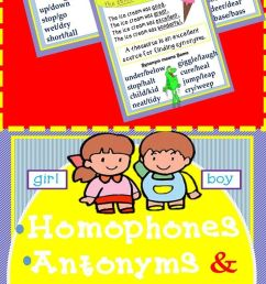 Homophones Synonyms Antonyms Grammar Worksheets And Anchor Charts on Best  Worksheets Collection 9060 [ 1582 x 736 Pixel ]