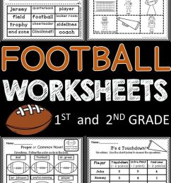 Football Worksheets   ***first And Second Grade Resources   Literacy on  Best Worksheets Collection 7179 [ 1308 x 736 Pixel ]