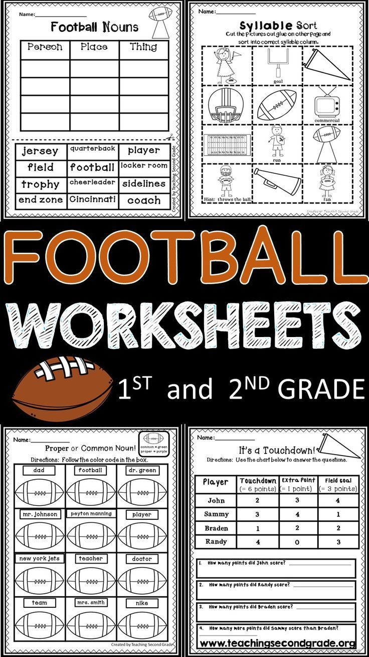 medium resolution of Football Worksheets   ***first And Second Grade Resources   Literacy on  Best Worksheets Collection 7179