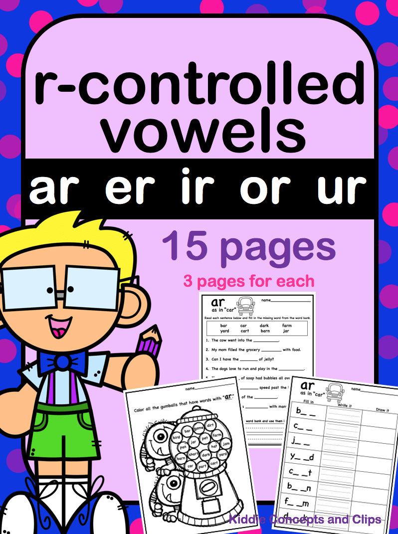 hight resolution of R-controlled Vowels Worksheets   Literacy   Vowel Worksheets on Best  Worksheets Collection 3130