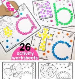 Bible Abc Dab \u0026 Dot Worksheets   Anna's   Abc Preschool [ 1544 x 735 Pixel ]