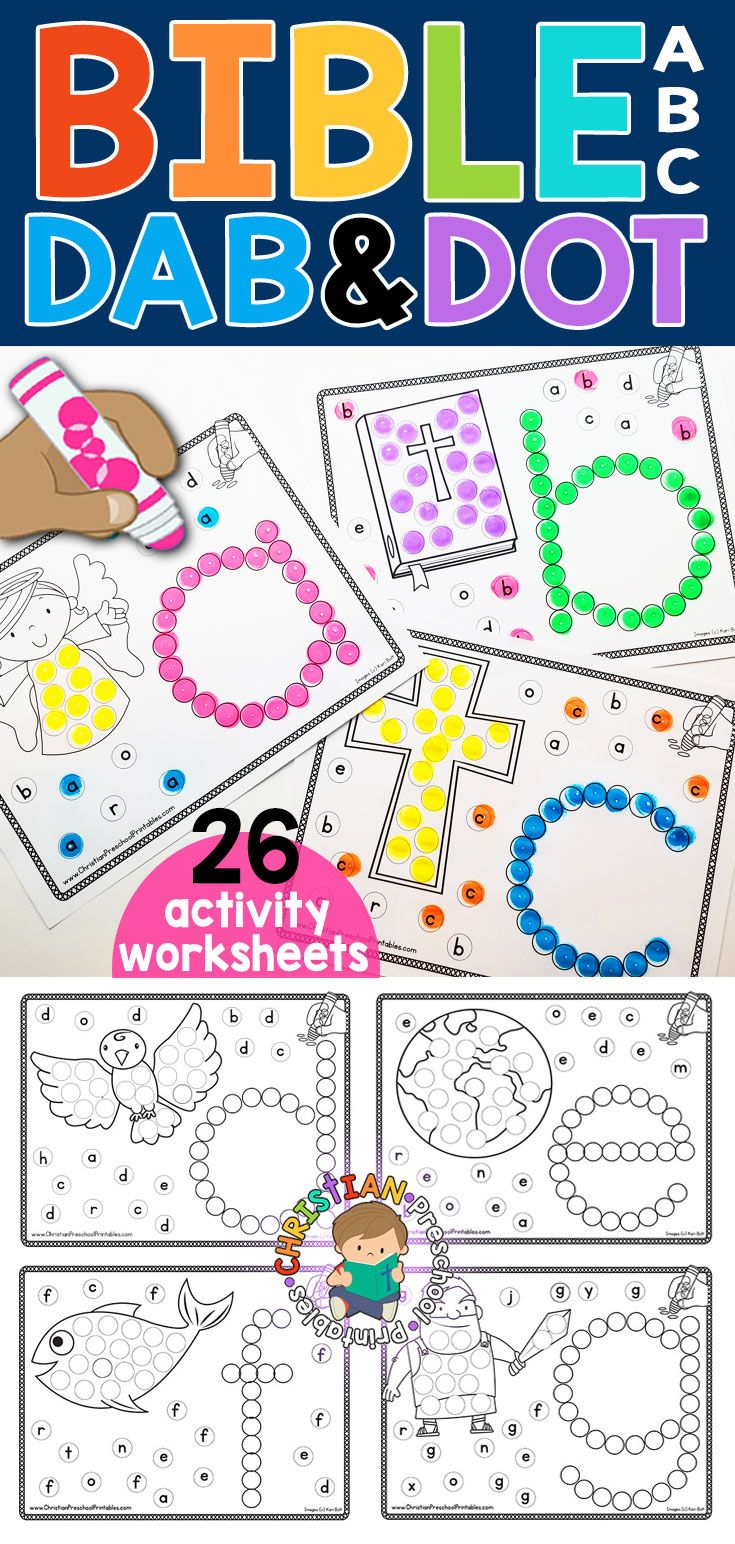 medium resolution of Bible Abc Dab \u0026 Dot Worksheets   Anna's   Abc Preschool