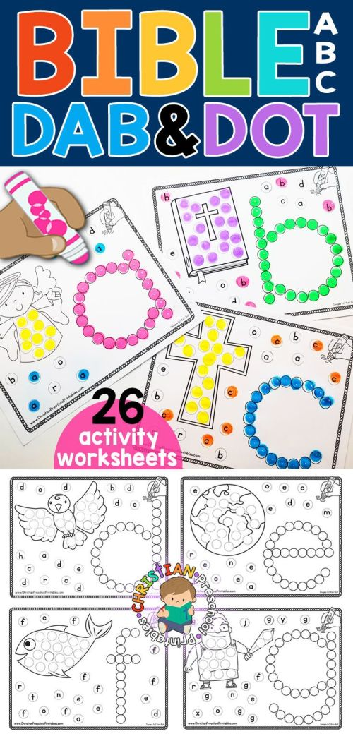 small resolution of Bible Abc Dab \u0026 Dot Worksheets   Anna's   Abc Preschool