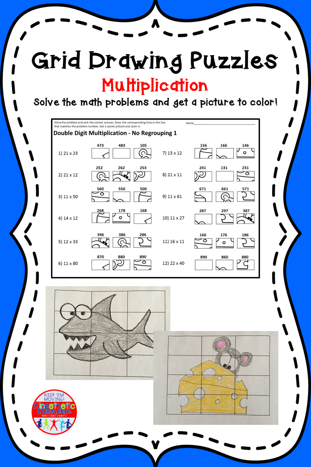 medium resolution of Multiplication Worksheet Grids Box   Printable Worksheets and Activities  for Teachers