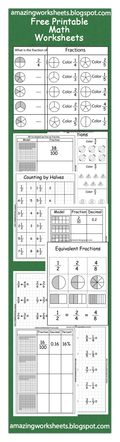small resolution of 13 Best 3rd Grade Fraction Worksheets With Answers images on Best Worksheets  Collection
