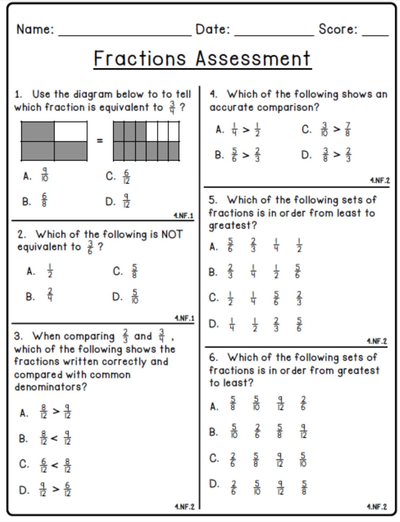 hight resolution of Envision Math 6th Grade Equivalent Fractions Worksheet With Answers    Printable Worksheets and Activities for Teachers