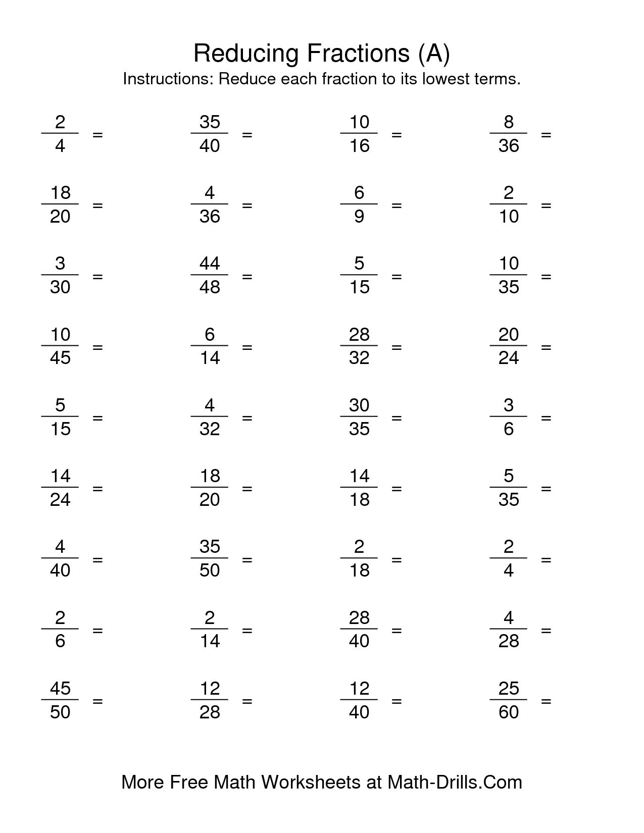 hight resolution of 9 Best Simplifying Fractions Worksheets And Answers images on Best  Worksheets Collection