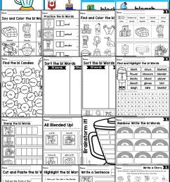 12 Best First Grade Blending Worksheets images on Best Worksheets Collection [ 1701 x 983 Pixel ]