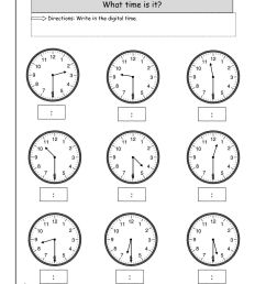 16 Best Digital Time Telling Worksheets images on Best Worksheets Collection [ 1584 x 1224 Pixel ]