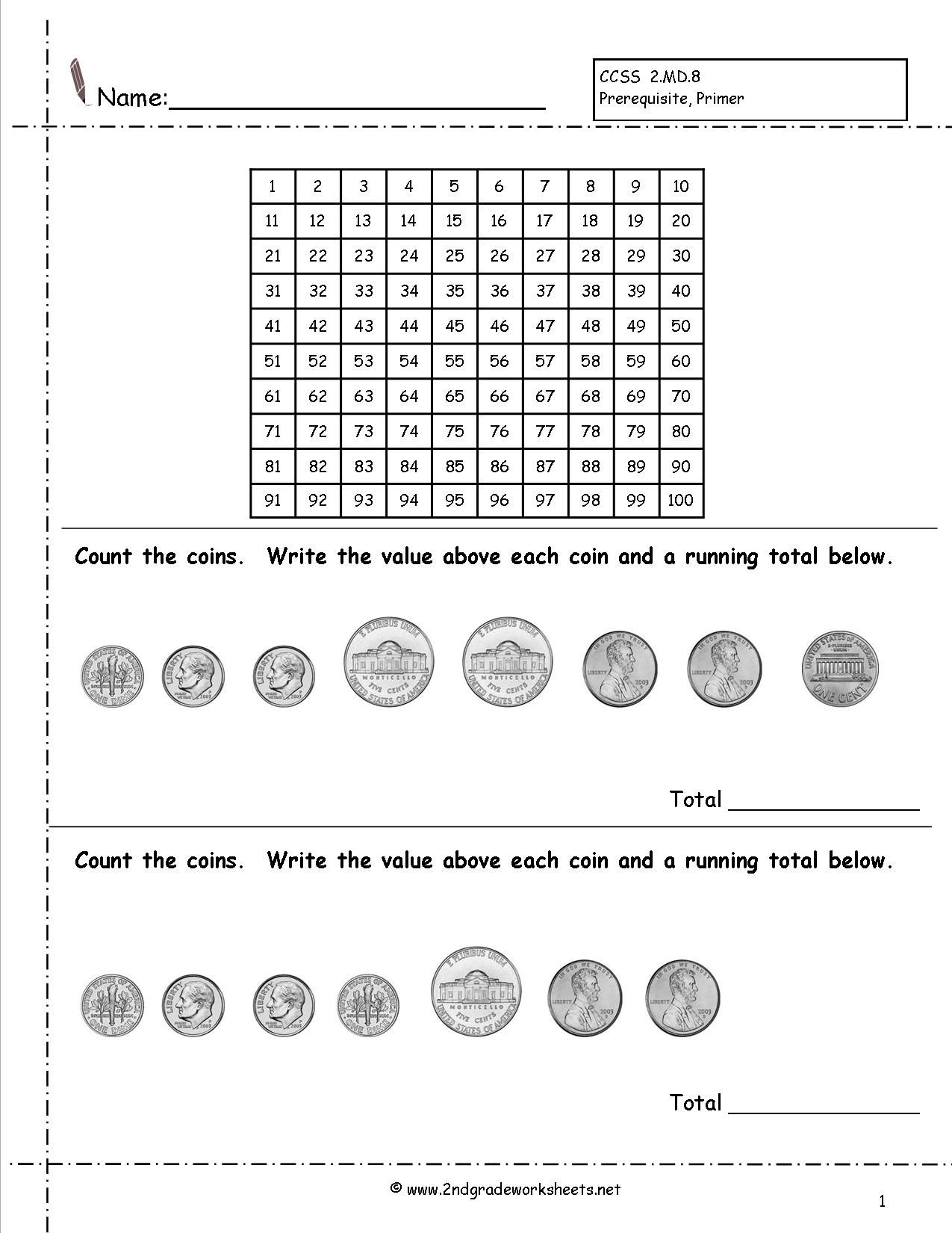 18 Best Counting Coins Worksheets Images On Best