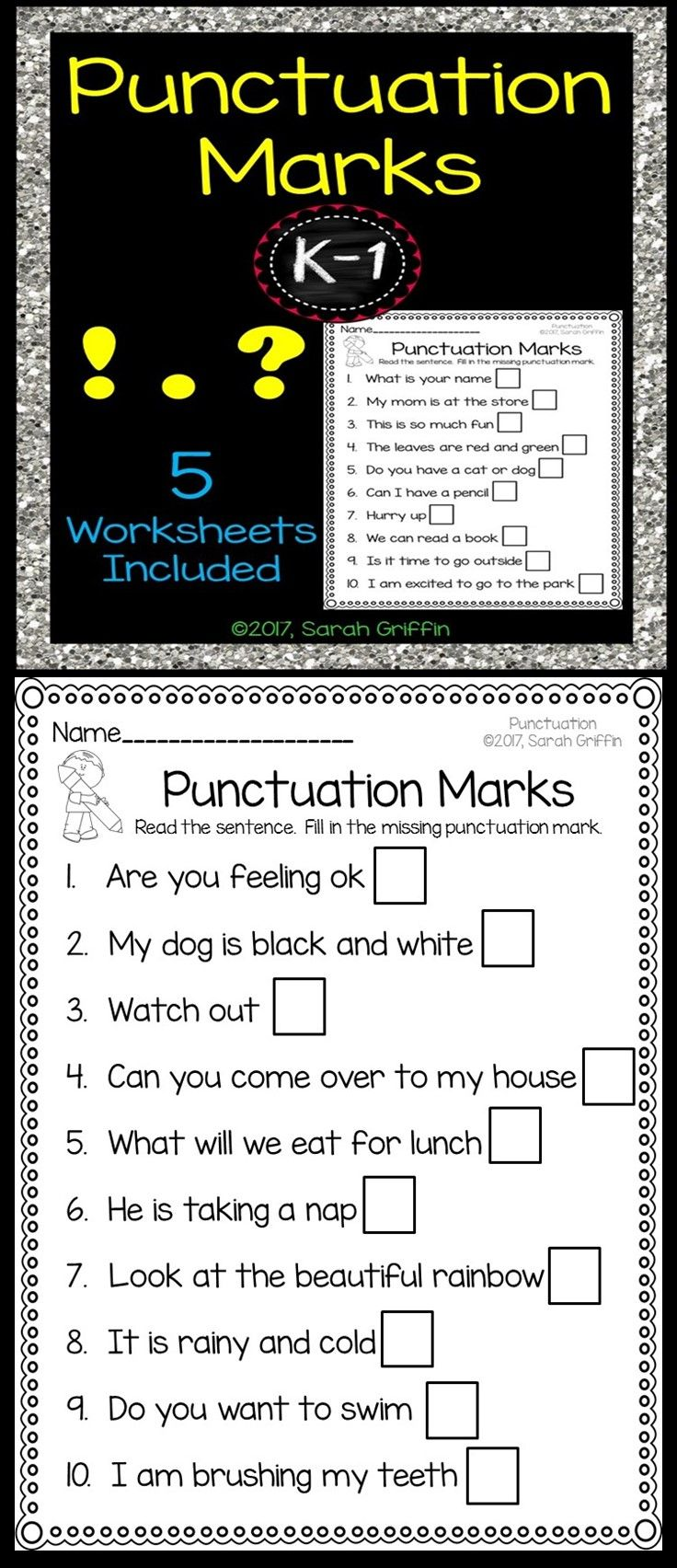hight resolution of 9 Best Ending Punctuation Worksheets images on Best Worksheets Collection