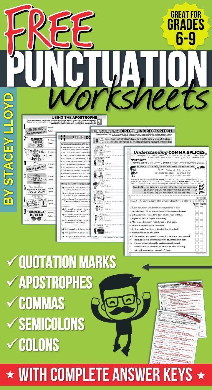 hight resolution of 5 Free Punctuation Worksheets   Grade 6   Punctuation Worksheets on Best  Worksheets Collection 9547