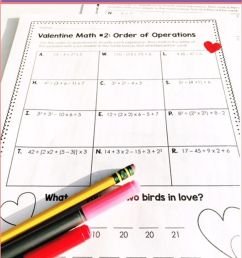 Valentine Math Order Of Operations Riddle Worksheets   5th Grade on Best  Worksheets Collection 4503 [ 1536 x 768 Pixel ]