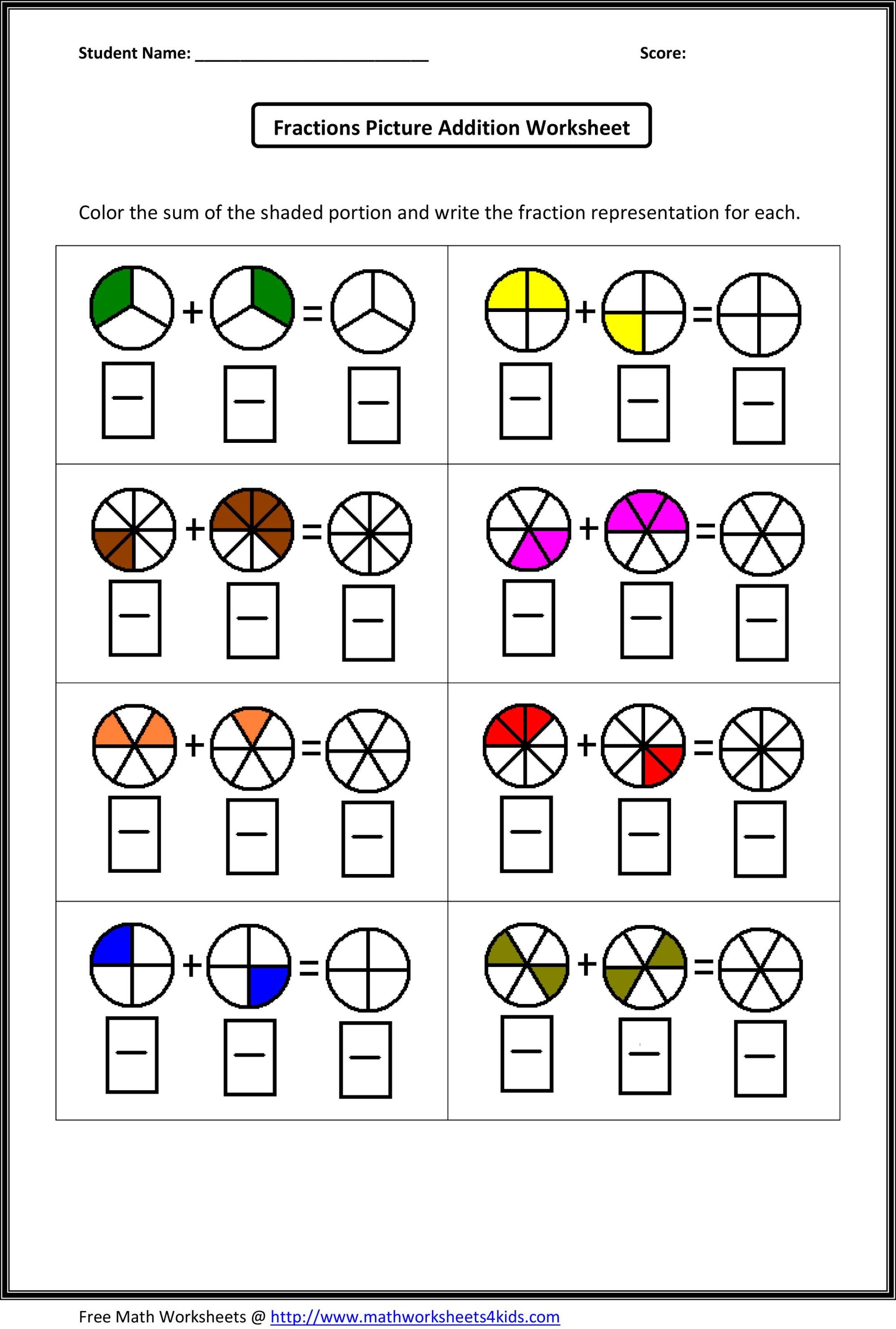 hight resolution of 20 Best Fractions Worksheets Grade 2 images on Best Worksheets Collection