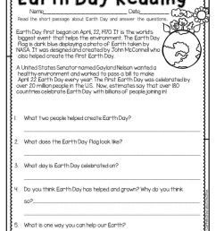 Spring Into Spring   Holidays   Earth Day Worksheets [ 1056 x 816 Pixel ]