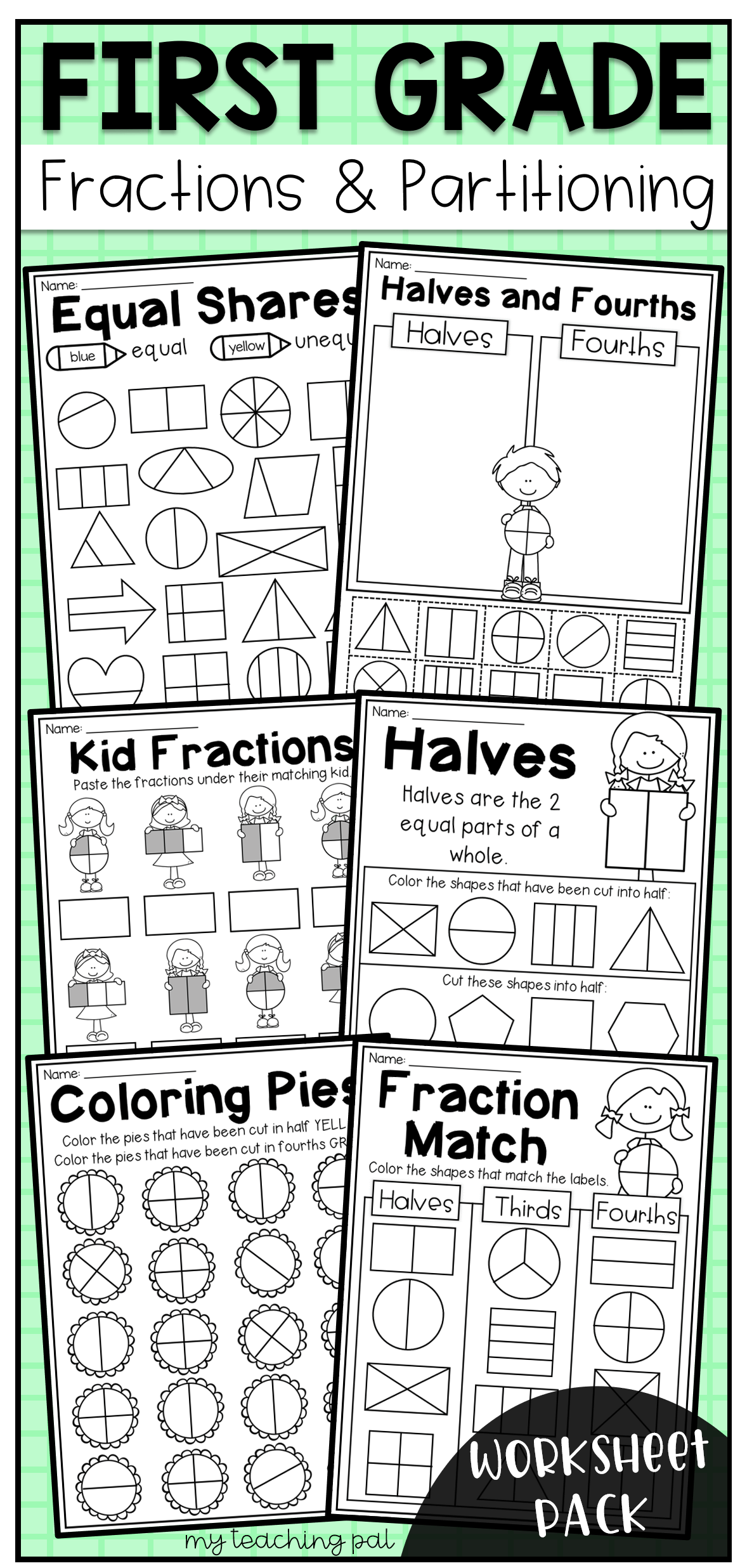 16 Best 2nd Grade Math Fractions Worksheets Images On Best