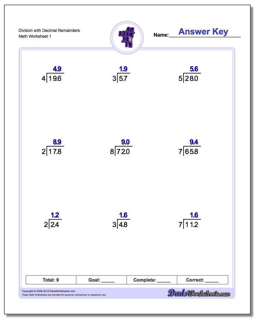 hight resolution of 9 Best Long Division With Decimals Worksheets images on Best Worksheets  Collection