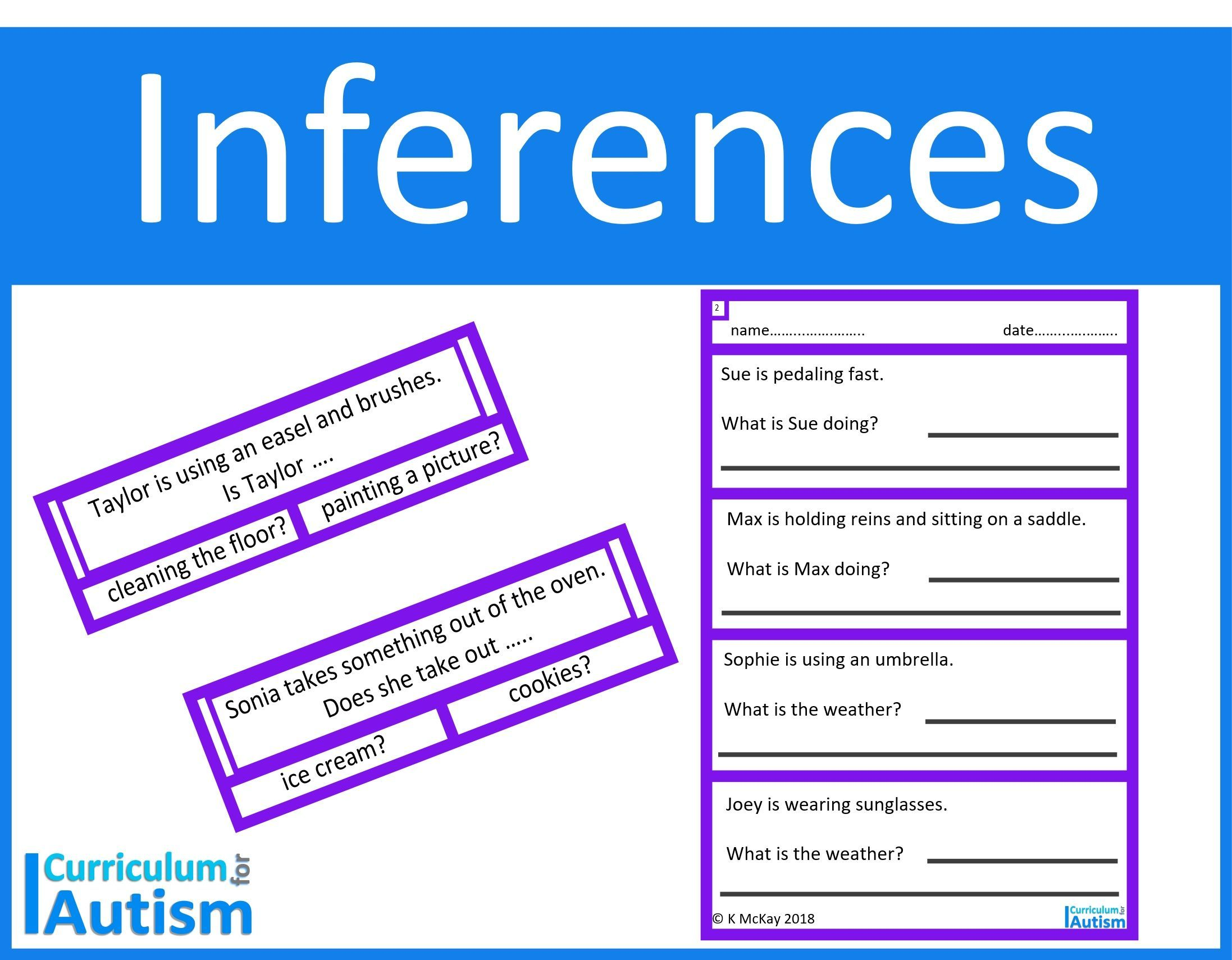Inferences Cards Amp Worksheets For Pupils With Autism Easy