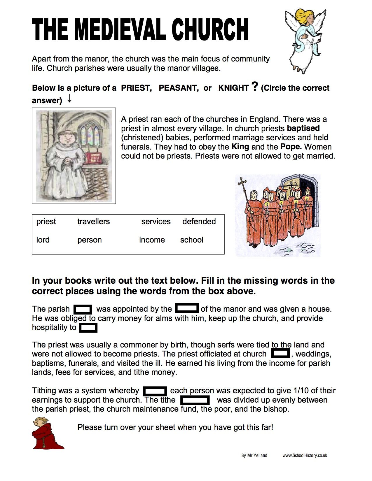 6 Best Middle Ages Feudalism Worksheets Images On Best