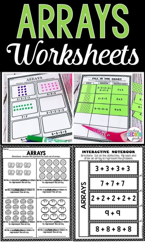 small resolution of 9 Best Division Using Arrays Worksheets images on Best Worksheets Collection