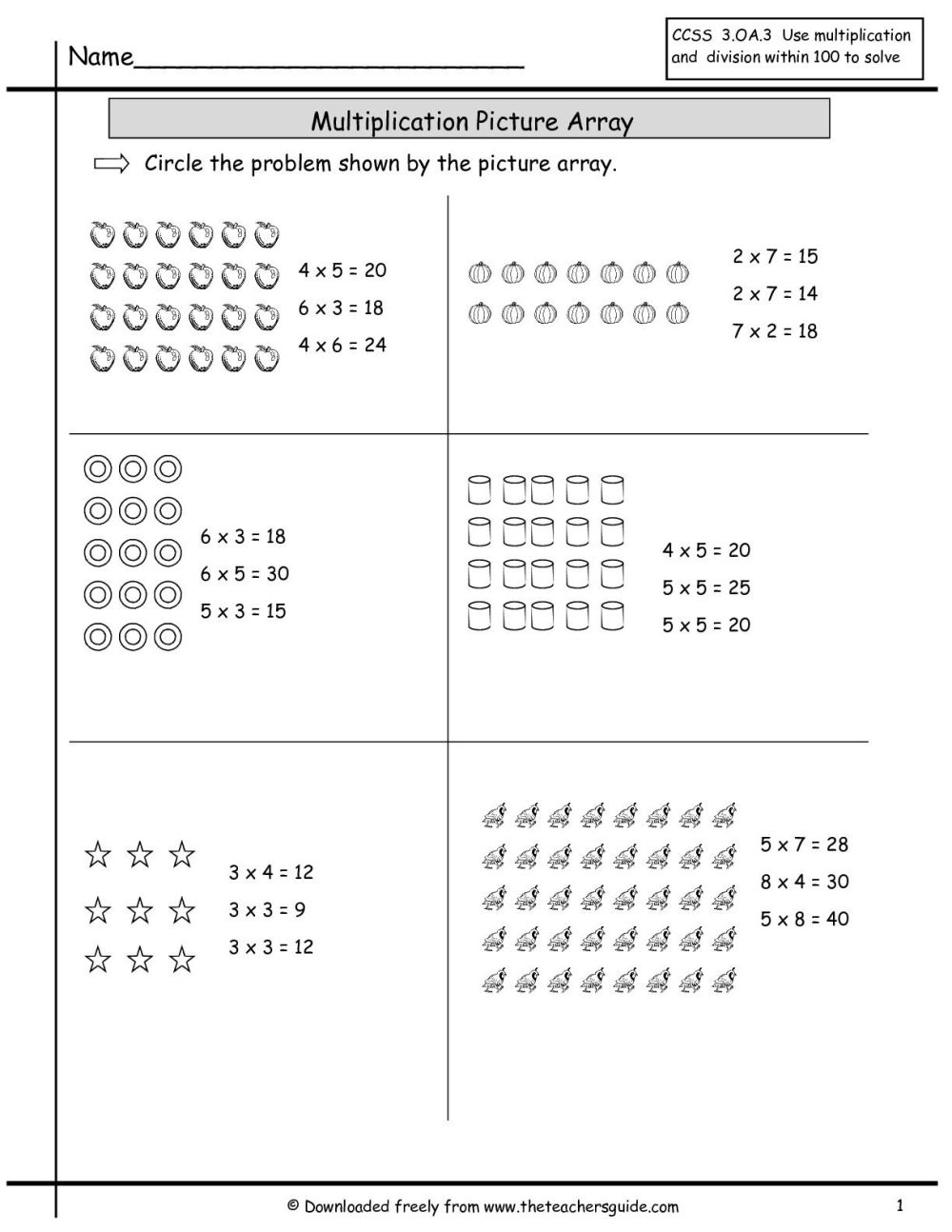 medium resolution of 16 Photos Of Multiplication Arrays Worksheets Grade 3   School Board on  Best Worksheets Collection 2244