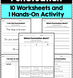 Missing Punctuation Worksheet   Printable Worksheets and Activities for  Teachers [ 2249 x 1499 Pixel ]